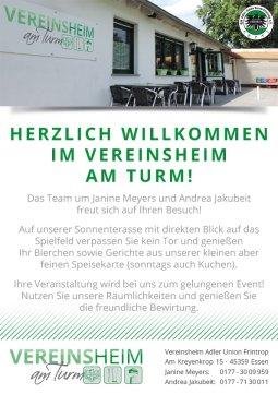 Vereinsheim Infos